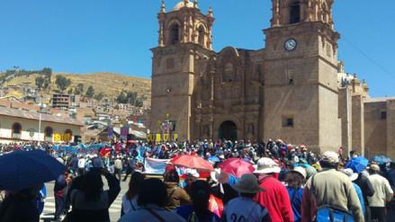 Miembros del sindicato de la CGTP se movilizaron en Puno