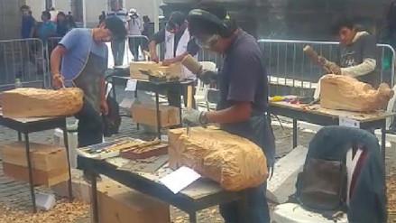 Clausuran y premian a ganadores de tradicional concurso de tallado de sillar y madera