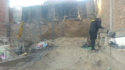 Obrero fallece tras derrumbarse parte de casa en construcción