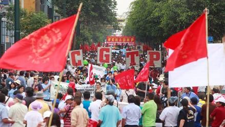 La CGTP programó para este jueves un paro nacional y una marcha en Lima