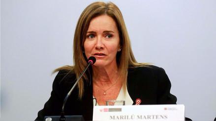 El Congreso aprobó interpelar a la ministra Marilú Martens