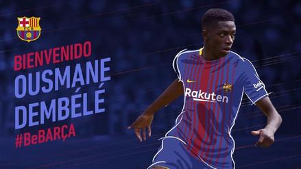 ¡Es oficial! Barcelona anunció a Ousmane Dembélé como su flamante fichaje