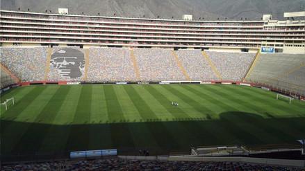 Así luce el campo del Estadio Monumental a una semana del Perú vs. Bolivia