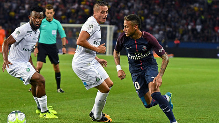 Con Neymar en cancha, PSG goleó al Saint-Étienne y es líder en Francia