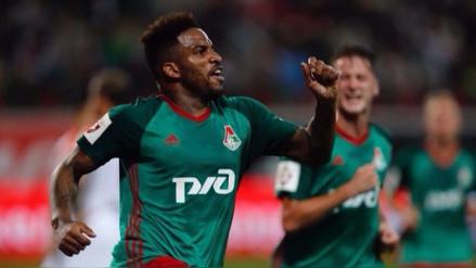 Jefferson Farfán llega entonado a la Selección tras anotar con Lokomotiv