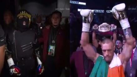 Así fue el ingreso de Mayweather y McGregor al cuadrilátero del T-Mobile Arena