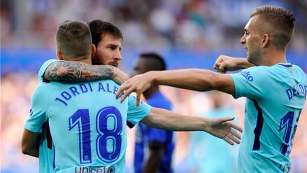 Barcelona venció al Deportivo Alavés de visita con goles de Messi