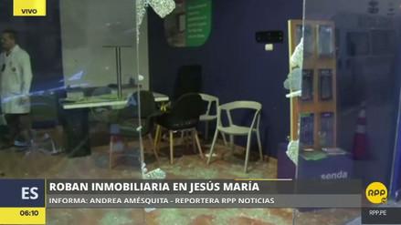Delincuentes asaltaron el módulo de una inmobiliaria en Jesús María