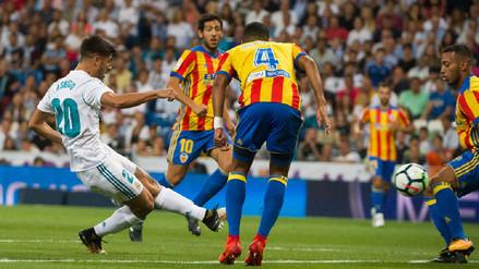 Con golazos de Marco Asensio, Real Madrid rescató un empate ante Valencia