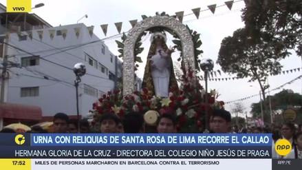 Una urna con las reliquias de Santa Rosa de Lima recorrió el Callao