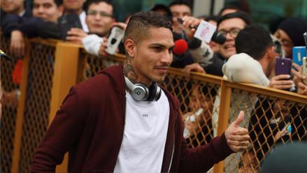 Paolo Guerrero llegó a Lima: