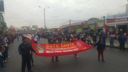 Sute Santa asegura que el 90% de docentes continúa en huelga