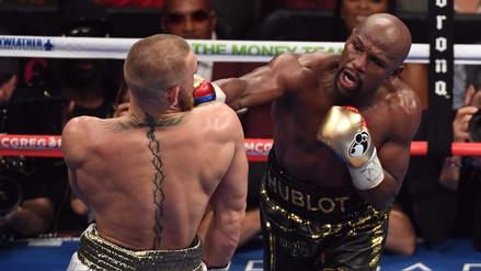 Mayweather quiso apostar que noquearía a McGregor en el décimo round