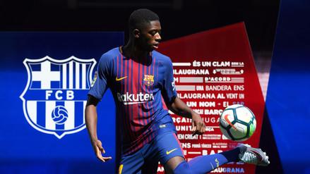 Ousmane Dembélé fue presentado por el Barcelona en el Camp Nou