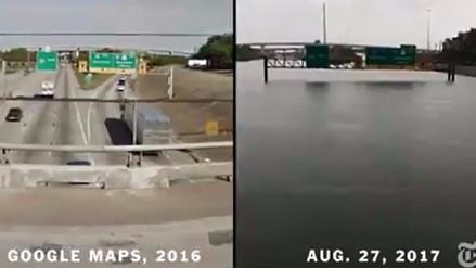 Video | Houston antes y después del paso del huracán Harvey