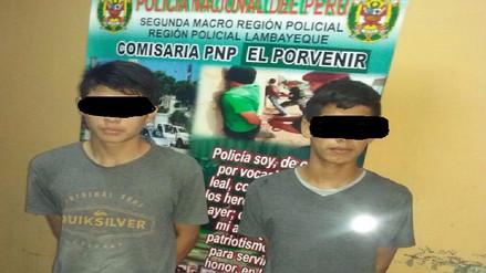 Dos adolescentes detenidos por robar un celular en Chiclayo