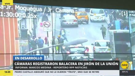 Video | Cámaras de seguridad captaron la balacera en jirón de la Unión