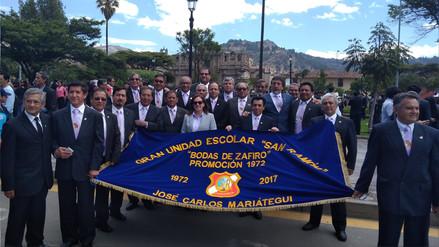 Institución educativa San Ramón realizó desfile de promociones