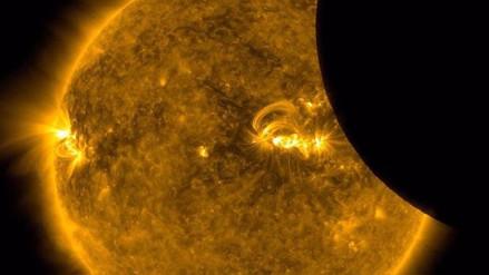 ¿Cómo se vio el eclipse total desde la Luna?