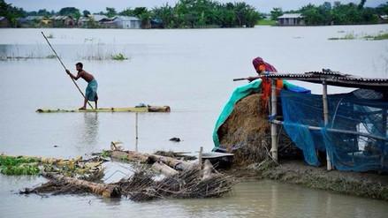 Inundaciones dejan 1, 200 muertos y 41 millones de afectados en India, Bangladesh y Nepal