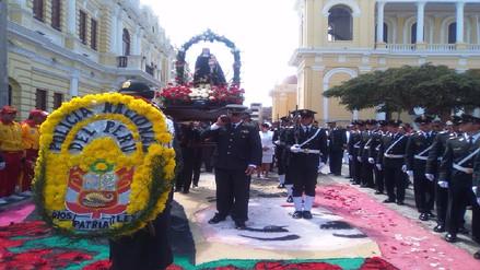 Unidades policiales rindieron homenaje a su patrona Santa Rosa de Lima