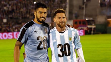 Luis Suárez y Lionel Messi promocionaron el Mundial Uruguay-Argentina 2030
