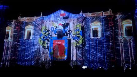 Con espectáculo de luces y fuegos artificiales cerraron aniversario de Arequipa
