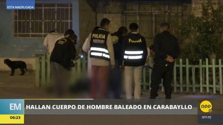 Matan a balazos a un presunto delincuente en Carabayllo