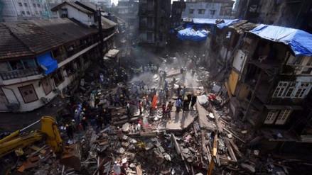 Se elevó a 33 la cifra de muertos tras derrumbe de edificio en la India