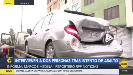 Capturan a dos ladrones de autopartes tras una persecución en San Luis