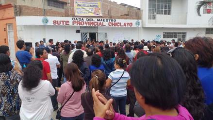Docentes lambayecanos suspenden huelga y volverán a las aulas este lunes