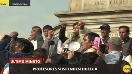 Pedro Castillo anunció la suspensión temporal de la huelga de maestros