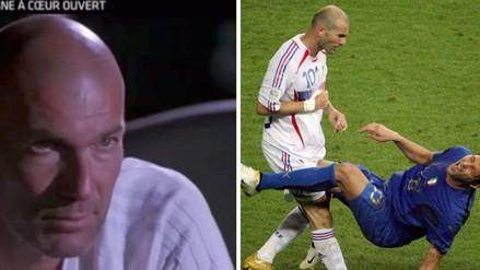 La reacción de Zinedine Zidane al volver a ver su cabezazo a Materazzi