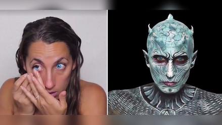 Facebook | Una mujer se transforma en el Night's King de Game Of Thrones