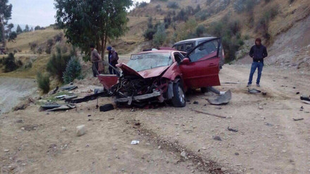 Jauja: dos policías mueren en trágico accidente de tránsito