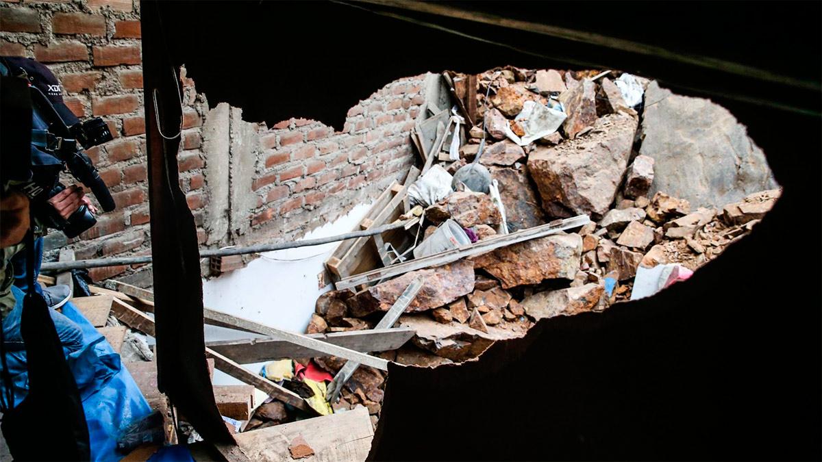 Un adolescente murió aplastado en un derrumbe en un cerro de El Agustino