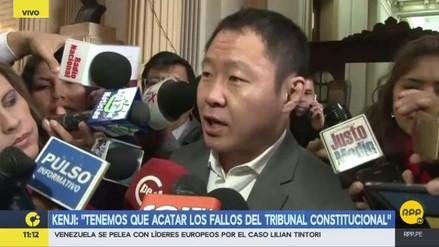 "Kenji Fujimori sobre fallo del Tribunal Constitucional: ""Hay que obedecer"""
