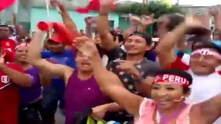 Así celebraron el triunfo de Perú en la frontera con Ecuador