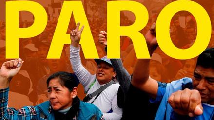 Piura, Puno y Trujillo harán paro de 24 horas en protesta contra la ministra Martens