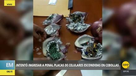 Una mujer intentó ingresar a un penal placas de celulares escondidas en cebollas