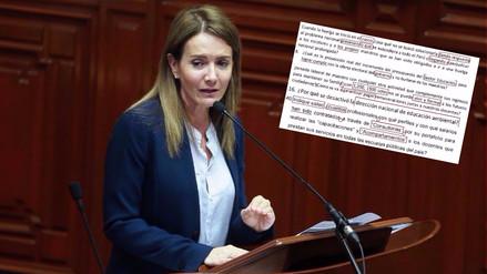 Los errores ortográficos del pliego interpelatorio contra la ministra de Educación
