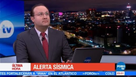 El terremoto de 8.2 en México sorprendió en vivo a conductor de televisión
