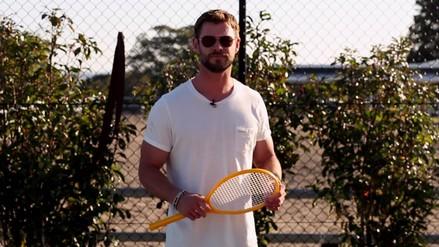 Chris Hemsworth le dedica mensaje en español a Juan Martín Del Potro