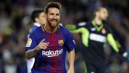 Con 'hat trick' de Lionel Messi, Barcelona apabulló al Espanyol