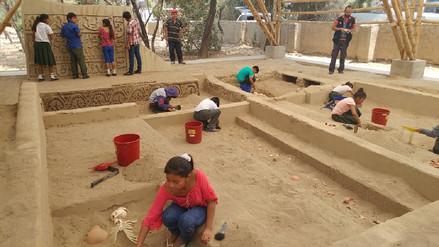 Más de cinco mil niños de caseríos aprenden arqueología y técnicas de conservación