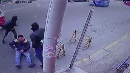 Cámaras de seguridad captan asalto a empresario en Huacho