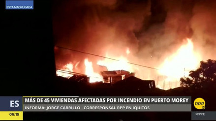 Un gran incendio consumió más de 50 casas en Puerto Morey
