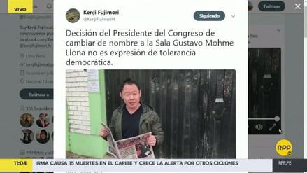 Kenji Fujimori cuestionó el cambio de nombre de la sala Gustavo Mohme Llona