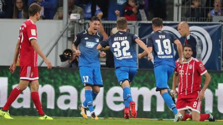 James Rodríguez debutó en la derrota del Bayern Munich ante el Hoffenheim