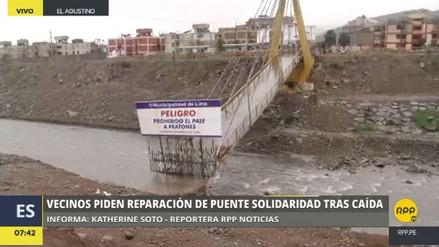 Aún no reconstruyen el Puente Solidaridad, caído hace casi 6 meses